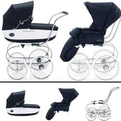 Inglesina SYSTM11VER Classica Pram and Seat with Raincover - Navy/White