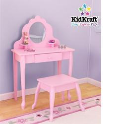 KidKraft 13023, Medium Diva Vanity and Stool - Pink
