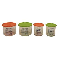 Beaba B2196 Portion Set of 4 - Orange/Green