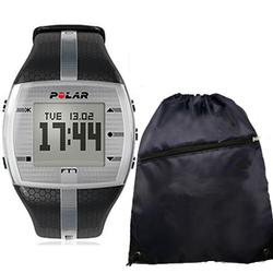 Polar 99041406 FT7M Black/Silver with FREE Cinch Bag