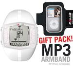 Polar 99039735 FT40F Heart Rate Monitor - Female White, with MP3 Armband