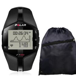 Polar FT80 WD Heart Rate Monitor 99041408, Black  with FREE Cinch Bag