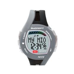 Mio 0021US-BLK2, Drive Petite + Heart Rate Watch, Black w/ charcoal grey