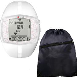 Polar FT40F 99041401, Heart Rate Monitor - Female White w/ Free Cinch Bag