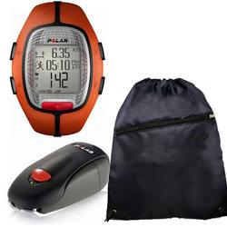 Polar 99041389 RS-300XSDOG Heart Rate Monitor With S1 Foot Pod For Running Enthusiasts & Cinch Bag, Orange