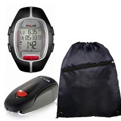 Polar 99041390 RS-300XSDOG Heart Rate Monitor With S1 Foot Pod For Running Enthusiasts & Cinch Bag, Black
