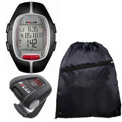 Polar 99041394  RS-300XG1BK Heart Rate Monitor With G1 GPS For Cross Sport Training and Cinch Bag, Black