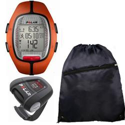 Polar 990413945 RS-300XG1BK Heart Rate Monitor With G1 GPS For Cross Sport Training and Cinch Bag, Orange