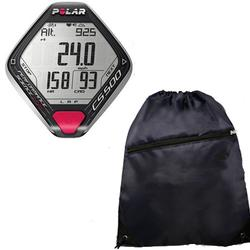 Polar 99041411 CS500 Cycling Training Computer With Cinch Bag