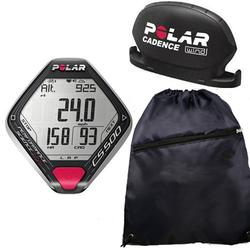 Polar CS500 CAD Cycling Training Computer With Cinch Bag