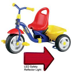 Kettler 8845-799, Kettrike Klassic - Red/Blue/Yellow with LED Reflector Light