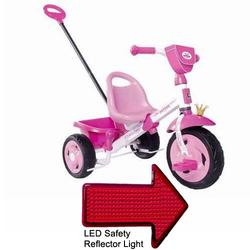 Kettler 8847-400 Happy Plus Princess Tricycle with Pushbar with LED Reflector Light