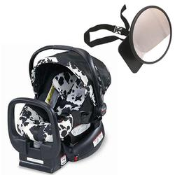 Britax E9L69P5KIT1, Chaperone Infant Carrier/Child Seat - Cowmooflage with Back Seat Mirror