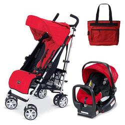 Britax U351771KIT2, B-Nimble stroller - Red with Diaper bag and Chaperone Car Seat