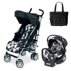 Britax U351775KIT2, B-Nimble stroller - Cowmooflage with Diaper bag and Chaperone Car Seat