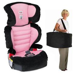 Britax E9LA8H7KIT1, Parkway SG - Belt Positioning Booster Seat travel system with a car seat Travel Bag - Pink Sky