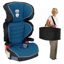 Britax E9LA81XKIT1, Parkway SG - Belt Positioning Booster Seat travel system with a car seat Travel Bag - Maui Blue
