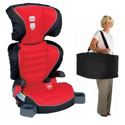 Britax E9LD22XKIT1, Parkway SGL - Booster Seat travel system with a car seat Travel Bag - Cardinal