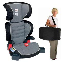 Britax E9LD22QKIT1, Parkway SGL - Booster Seat travel system with a car seat Travel Bag - Cloudburst