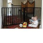 Cardinal Gates EX5BLK Extendable Gate 85 - Black