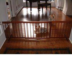 Cardinal Gates SGXWA Step Over Gate Extension - Walnut