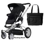 Quinny CV155RKBKIT Buzz 4 Stroller - Rocking Black With a Diaper Bag