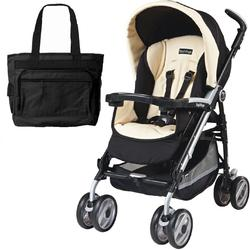 Peg Perego 2011 Pliko P3 Compact Stroller with Diaper Bag - Paloma