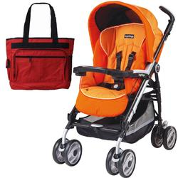 Peg Perego 2011 Pliko P3 Compact Stroller with Diaper Bag - Apricot