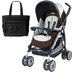 Peg Perego 2011 Pliko P3 Compact Stroller with Diaper Bag -  Java