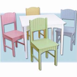 KidKraft 26101 Nantucket Table & 4 Chairs, Pastel