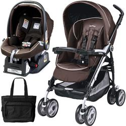 Peg Perego 2011 Pliko P3 Travel System with a Diaper Bag - Cacao