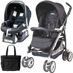Peg Perego 2011 Pliko P3 Travel System with a Diaper Bag - Pois Black