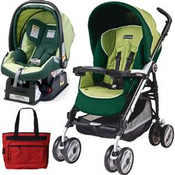 Peg Perego 2011 Pliko P3 Travel System with a Diaper Bag - Myrto Green