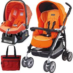 Peg Perego 2011 Pliko P3 Travel System with a Diaper Bag - Apricot Orange