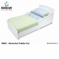 KidKraft 86621 Nantucket Toddler Cot, White