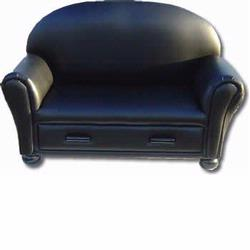 GiftMark 6700-BK Chaise Lounge with Drawer, Black
