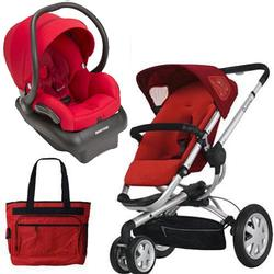 Quinny BUZZ3TRSTMR Buzz 3 Travel System in Red with Diaper Bag