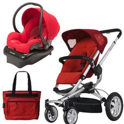 Quinny BUZZ4TRSTMR Buzz 4 Travel System in Red with Diaper Bag
