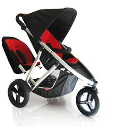 Phil & Teds VIBE2REDKIT Vibe 2 Buggy Double Stroller - Red/Black