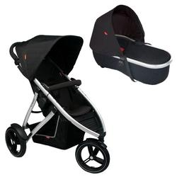 Phil & Teds VIBE2BLKBAS Vibe 2 Buggy Single Stroller With Peanut Bassinet - Black
