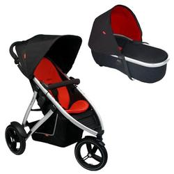 Phil & Teds VIBE2REDBAS Vibe 2 Buggy Single Stroller With Peanut Bassinet - Red/Black