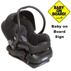 Maxi-Cosi IC099APU Mico Infant Car Seat  w/Baby on Board Sign - Total Black