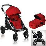 Baby Jogger 81263KIT1, City Select Stroller with Bassinet - Ruby