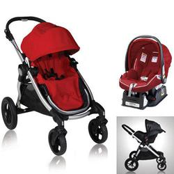 Baby Jogger 81263KIT3, City Select Stroller with Car Seat - Ruby
