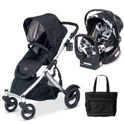 Britax U281772KIT3, B-Ready Stroller and Chaperone Infant Carrier with Diaper Bag - Cowmooflage/Black