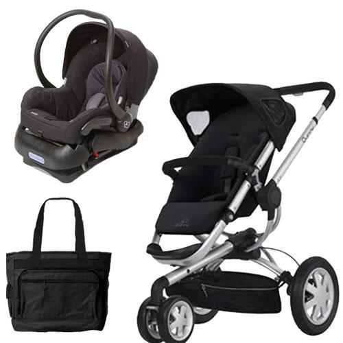 Quinny Buzz 3 Travel System In Black With Diaper Bag Ebay