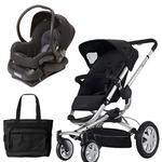 Quinny Buzz 4 Travel System in Black with a Diaper Bag
