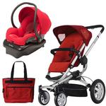 Quinny BUZ4TRSTMR1 Buzz 4 Travel System in Red with Diaper Bag