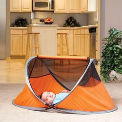 KidCo P001, PeaPod Lite Portable Travel Bed - Tangerine