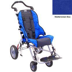 Convaid CX14 900490-903850 Cruiser Cordura 30 Degree Fixed Tilt Wheelchair - Mediterranean Blue